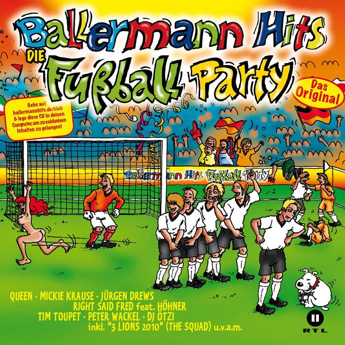 "fussballwmsuedafrika2010.de verlost BIER & 3x BALLERMANN HITS ""Die Fußball Party"" CD's"
